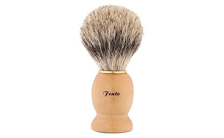 Men Badger Hair Shaving Brush with Wood Handle Yellow e7c497a6-64b4-4eca-9fc9-085ec9dd38a0