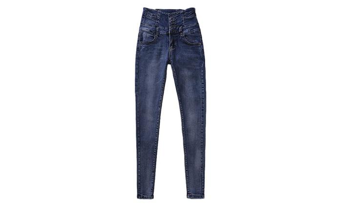 Women's Korean Capri Fashion Straight Leg Casual Jeans