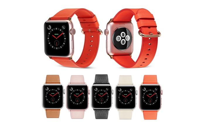 Women Genuine Leather Strap Band for Apple Watch Series 3