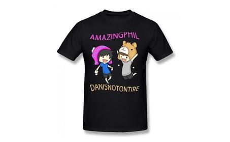 Dan And Phil Black T-shirt For Men 2ea9c9b2-ba86-4bd2-8321-a7d7986f0eeb