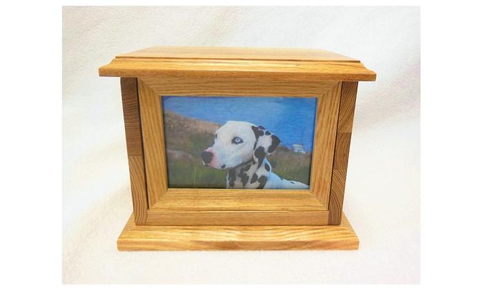 Elegant Mahogany Wood Cremation Urns Photo Frame Pet Urns Groupon