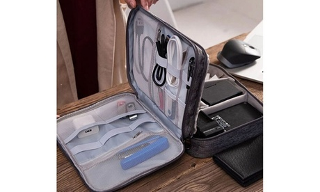 Organizer bag for electronic accessories and charging cables