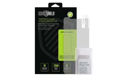 Shock Shield Tempered-Glass Screen Protector for iPhone X