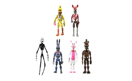 New Aarrival 6Pcs FNAF Five Nights at Freddy's Action Figures Toys Kid c45f02a8-54d1-43ec-a9e3-fbc64b7f641f