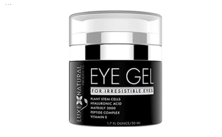 Luxe Natural Products Eye Gel for Irresistable Eyes 1.7 fl oz./50 ml