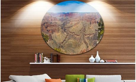 Grand Canyon National Park' Landscape Metal Circle Wall Art fd426b09-4ae5-44da-a0f4-f65bcdb581e1