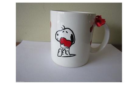 Coffee Mug Hand Painted Snoopy 2753af14-ea0b-424f-aa11-287b525c6147