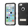 Insten Hard Hybrid Rubber Silicone Case W Stand For Iphone 5c Black