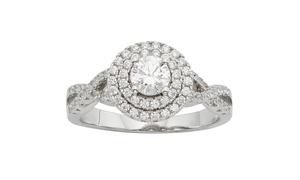 Swarvoski Element Double Row Ring in Sterling Silver -SL37225AP1