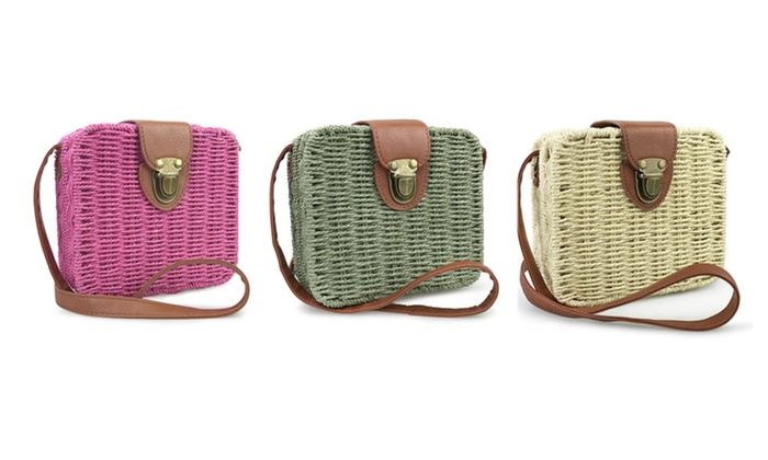 Straw Bags for Women Woven Bag Cross Body Purse Beach