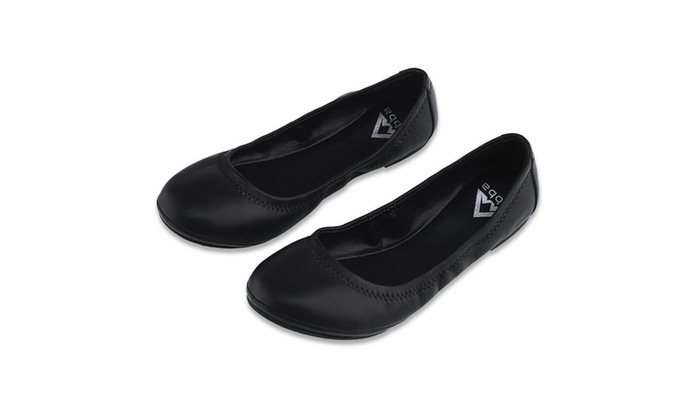 Casual Suede Round Toe Women's Ballet Flat Suede Slip On Flats. Size 8