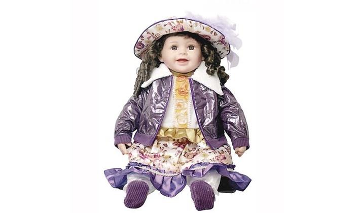 "Groupon Goods: Cherish Crafts 25"" Muscial Vinyl Doll 'Harper'"