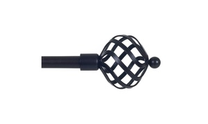 "Lavish Home Twisted Sphere Curtain Rod 62""-144"", 3/4"" - Rubbed Bronze"