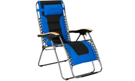 Costway Padded Zero Gravity Lounge Chair Oversize Folding Adjustable