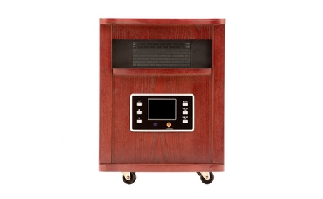 Haier 5,200 BTU 6-Element Infrared Space Heater with Cherry Finish photo