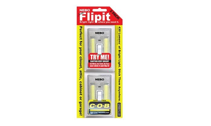 Nebo Flipit 2-pack Portable LED Light