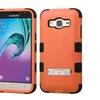 Insten Hard Hybrid Coated Case For Samsung Galaxy J3 2016 Orange/black