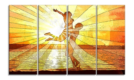 Rays of Light Sensual Metal Wall Art 48x28 4 Panels 999267f0-0cf1-4ba3-9cd9-9e9e8b833dfc
