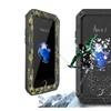 Waterproof Shockproof Aluminum Glass Metal Case Fr iPhone 7 and 7 Plus