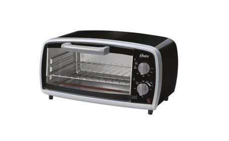 Oster TSSTTVVG01 Toaster Oven, 4 Slice, Black/Sliver photo