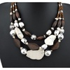 Bohemia Style Multilayer Chunky Big Stone Pendant Necklace for Women