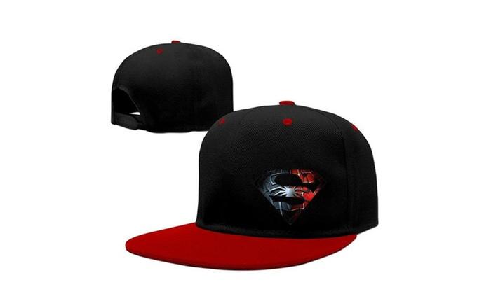 ecb1bc2a3e0 Sport Spider Man Logo Hip Hop Baseball Cap Hat Adjustable