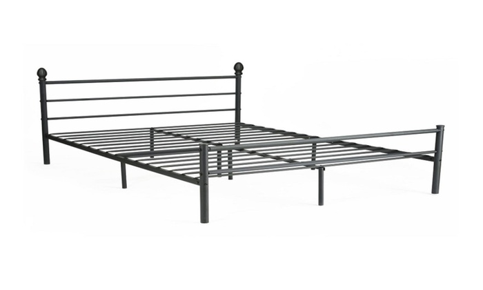 Platform metal frame mattress foundation with headboard for Bed frame deals