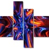 Starry Trance - Large Abstract Wall Art - 63x32 - 4 Panels