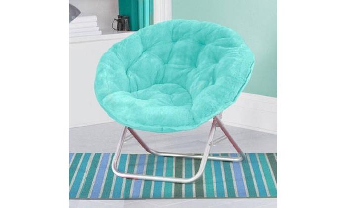 Magnificent Faux Fur Saucer Chair Aqua Wind Alphanode Cool Chair Designs And Ideas Alphanodeonline