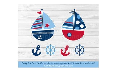 Nautical Sailboat Blue Red Action & Toy Figures Cutouts Decorations 0e7a0dfa-590e-4172-ae0a-00e1242b6b8d