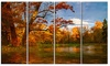 Quiet and Silent Autumn - Landscape Metal Wall Art