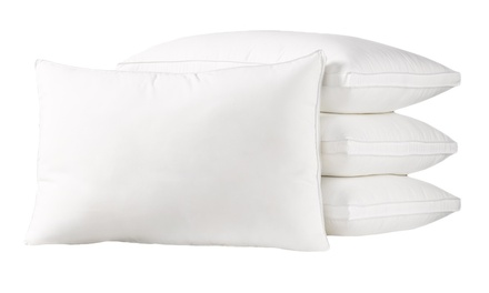 Exquisite Hotel Collection Down-Alternative Dust-, Mite-, and Allergen-Resistant Pillow Set (4-Pack)