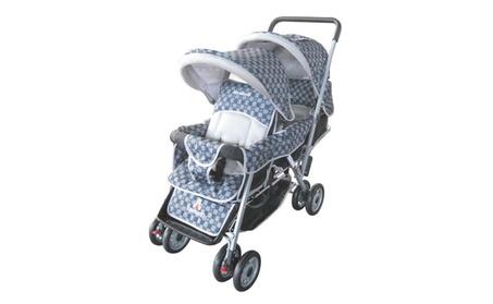 AmorosO 43483 Black Deluxe Double Stroller 41ad6604-13c4-41fa-afaa-822170c6b65d