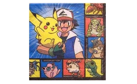 Pokemon Beverage Napkins (16 Counts Per Pack) 4449bc2e-40e8-4507-9d77-5865b26d25a5