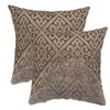 2Pack Flocking Trellis Geometric Square Decorative Throw Pillows