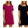 Women's Short Sleeve Casual A-Line Mini Party Dress