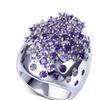 Trendy Crystal Large Cubic zirconia stones Women's Ring