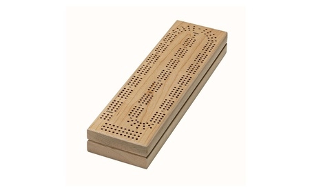 We Games Cabinet Cribbage Set - Solid Maple Continuous 3 Track Board 4ded19bd-7fe9-466b-87dd-b479efcae127