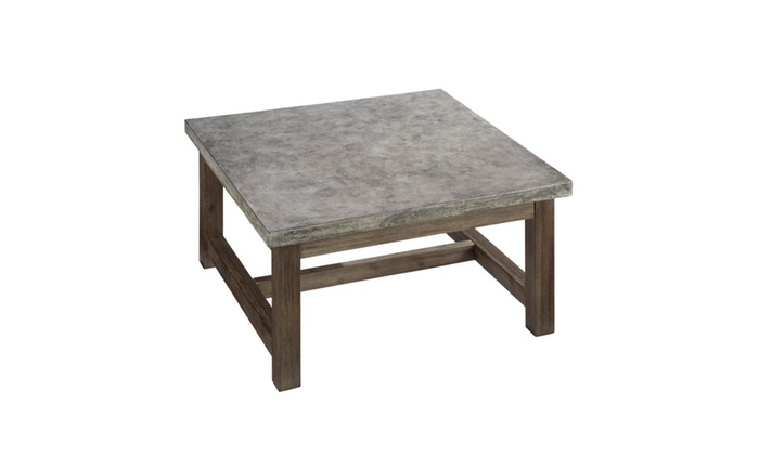 Concrete Chic Square Coffee Table Groupon