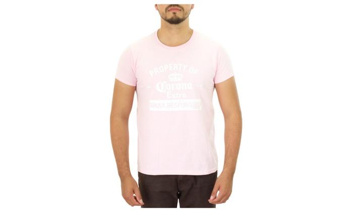 Corona Relax Responsibly Pink T-Shirt