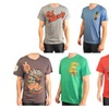 Ed Hardy Men's Graphic T-Shirt Crewneck And V-Neck Short Sleeves