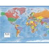 Map Mega Poster Laminated 48x78 World Classic Premier Wall
