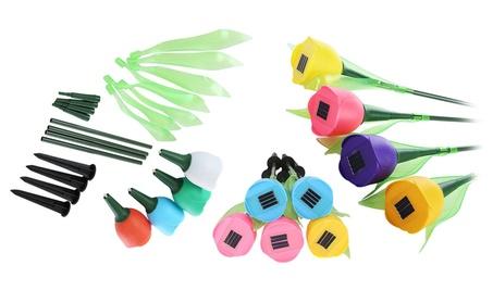 Solar Powered LED Garden Tulip Flower Lights (8 Pack) 1a2eda6a-bbe7-48fa-8887-62ef9fd38aba