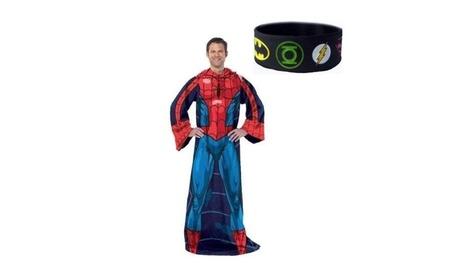 Spiderman Comfy Blanket Snuggie Throw Superhero with BONUS GIFT 1b1a641e-f8ef-43ed-addd-e6765270c9ed