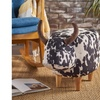 Tiffany Patterned Cow-Shaped Ottoman