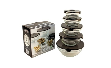 10 Pc Glass Food Storage Containers with Lids b77ed2b5-8c70-4cbc-a9bd-22b398f8d6f1