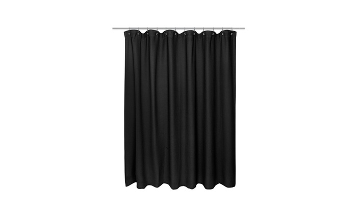 American Crafts Waffle Weave Shower Curtain 72 X Black