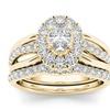 14k Yellow Gold 1ct TDW Diamond Oval Shape Bridal Ring