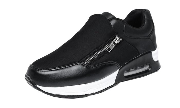 Women's Preppy Side Zipper Fashion Sneakers
