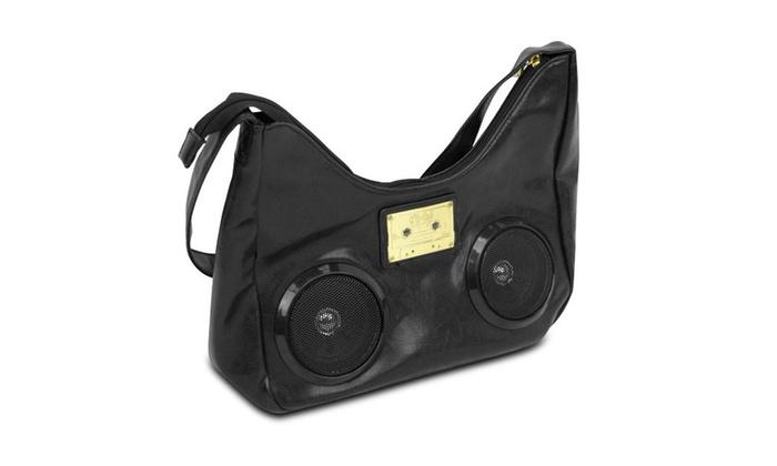 Fi-Hi Boho Stereo Handbag Purse with Speakers - Listen Music On the Go